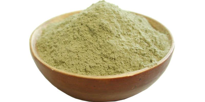 Arcilla verde en polvo de grano fino