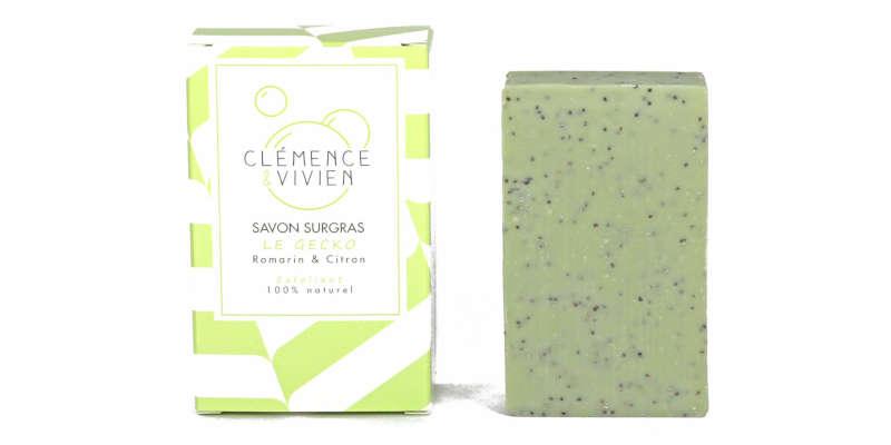 Jabón natural de arcilla verde Clemence Vivien
